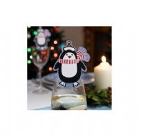 Party Penguin Christmas Place Cards For Glasses - Pk 10
